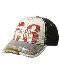 93c0b9689f2 Lyst - DIESEL Bandana-print Baseball Cap In Cotton in Black for Men