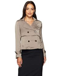 Ellen Tracy - Petite Soft Cropped Trench - Lyst