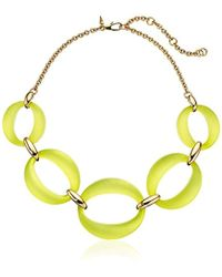 Alexis Bittar - Large Lucite Link Chain Necklace - Lyst