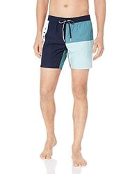 939a03fadc2 Lacoste - Color Block Swim Shorts In Navy With Drawstring Pouch - Lyst