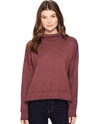 Three Dots - Brushed Italian Loose Short Sweatshirt - Lyst