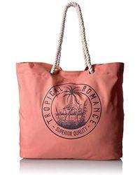 Roxy - Tropical Vibe Printed Tote Beach Bag - Lyst