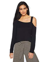 BB Dakota - Pick Up The Phone Soft One Shoulder Top (black) Women's Clothing - Lyst