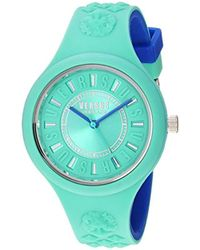 Versus - 'fire Island Bicolor' Quartz Stainless Steel And Silicone Watch, Color:two Tone (model: Vspoq2718) - Lyst