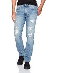 Levi's - 511 Ripped Slim Fit Cut Off Jean - Lyst