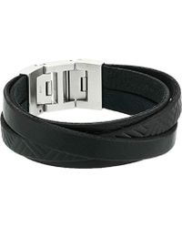 Fossil - S Double Wrap Bracelet With Fold-over Closure - Lyst