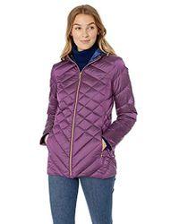 a06446e9b8e9 Ellen Tracy - Hooded Down Jacket - Lyst