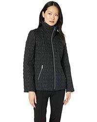 Anne Klein - Quilted Jacket, Black, Lg - Lyst