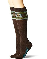Wrangler - Ladies Angora Aztec Boot Socks 2 Pair Pack - Lyst