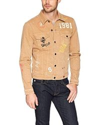 Guess - Dillon Denim Jacket With Graffiti - Lyst