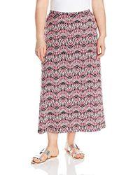 Kasper - Plus Size A-line Print Maxi Skirt - Lyst