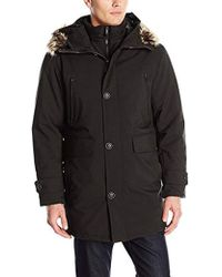 London Fog - Dodson Snorkel With Inner Bib And Attached Hood - Lyst