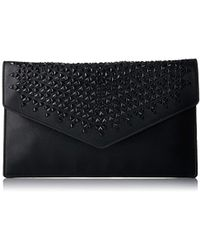 Juicy Couture - Black Studded Clutch With Gold Chain - Lyst