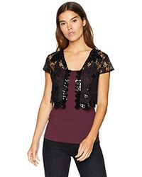 Laundry by Shelli Segal - Sequin Cap Sleeve Lace Vest Accessory - Lyst