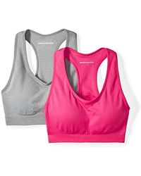 1122cc7a78 Lyst - Amazon Essentials 2-pack Light Support Seamless Sports Bras ...