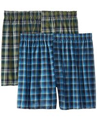 Hanes - Inside Exposed Waistband Woven Boxers (2-pack) - Lyst