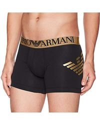 Emporio Armani - Stretch Cotton Metal Eagle Boxer Brief - Lyst