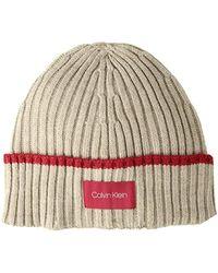 85fe86155e0 Calvin Klein - Tipped Cuff Beanie - Lyst
