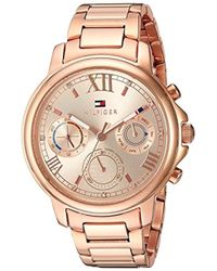 Tommy Hilfiger - 'claudia' Quartz Stainless Steel Casual Watch, Color:rose Gold-toned (model: 1781743) - Lyst