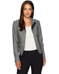 Calvin Klein - Petite Swear Jacket With Collar And Piped Pockets - Lyst
