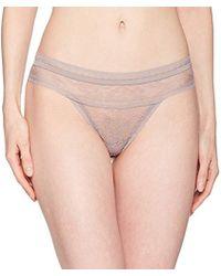 Calvin Klein - Ck Black Obsess Thong Panty - Lyst