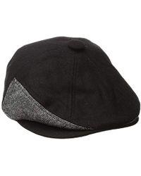 KTZ - Cap Ek Black Fabric Mix 7panel Driver Hat - Lyst