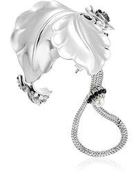 Badgley Mischka - Leaf & Floral Hand Chain Cuff Bracelet - Lyst