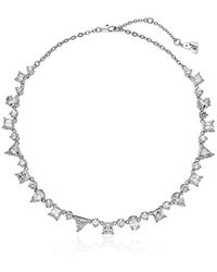 """Betsey Johnson - """"betsey Blue Mixed Cubic Zirconia Stone Collar Necklace - Lyst"""