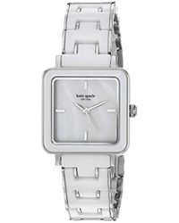 Kate Spade - Washington Square Stainless Steel Quartz Watch With Ceramic Strap, White, 7 (model: Ksw1202) - Lyst