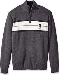 U.S. POLO ASSN. - Chest Stripe 1/4 Zip Sweater - Lyst