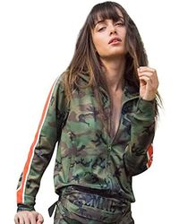 Pam & Gela - Camo Track Jacket With Racing Stripe - Lyst