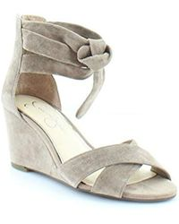 78b2a3f1f0 Lyst - Jessica Simpson Jenay Wedge Sandal in Natural