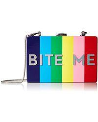 MILLY - Bite Me Acrylic Box Clutch - Lyst