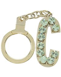 Kate Spade - Key Fobs Jeweled Initial - Lyst