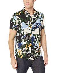 Guess - Short Sleeve Rayon Camo Jungle Shirt - Lyst