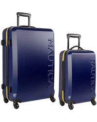 ee2b7d8864 Nautica - 2 Piece Hardside Spinner Luggage Suitecase Set, Navy/yellow - Lyst