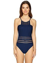 8ed96f6b10 Lyst - Kenneth Cole Tough Luxe Mio (black) Women's Swimsuits One ...