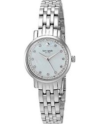 12c6c56ee6e Kate Spade - Stainless Steel Mini Monterey Watch - Lyst