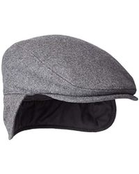 Dockers - Solid Melton Hat With Fold-down Ear Flaps - Lyst