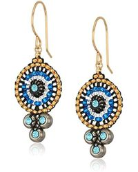 Miguel Ases - Triple Swarovski Suspended Circle Drop Earrings - Lyst