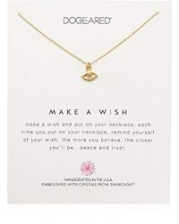 """Dogeared - Make A Wish, Eye Swarovski Crystal Necklace, 16"""" + 2"""" Extension, 14k Gold Dipped 0.925 Sterling Silver - Lyst"""