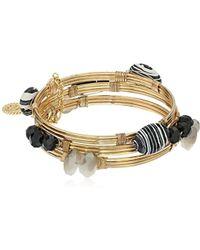 Jessica Simpson - Set Of 3 Stone Wrapped Bangle Bracelet - Lyst