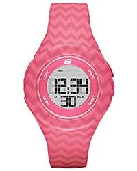 Skechers - Spreckles Digital Silicone Chronograph Watch, Color: Pink Chevron (model: Sr6108) - Lyst