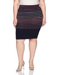 4d79c37324a Lyst - Rachel Rachel Roy Curvy Trendy Plus Size Houndstooth Skirt in ...