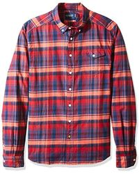 Scotch & Soda - 's Lightweight Brushed Flannel Shirt With Workwear Elements Long Sleeve Top - Lyst