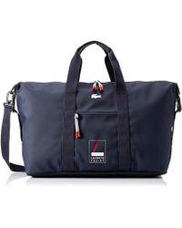 Lacoste - Heritage Graphic Weekender Bag, Peacoat, 00 - Lyst