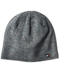 5fff36103d885 Tommy Hilfiger - Fine Gauge Marled Fleece Lined Hat - Lyst