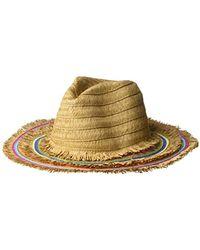 b48a60300cbe9d Betsey Johnson - Rainbow Panama Hat With Frayed Edge - Lyst