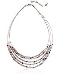 Napier - Twotone Multirow Necklace - Lyst