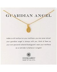 Dogeared - Guardian Angel' Charm Bead Chain Necklace - Lyst